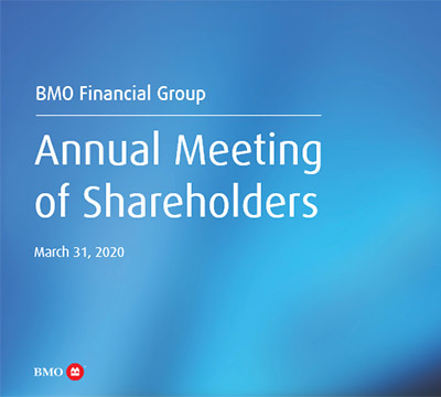 BMO Annual Meeting of Shareholders text