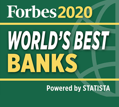 Forbes World's Best Banks powered by STATISTA