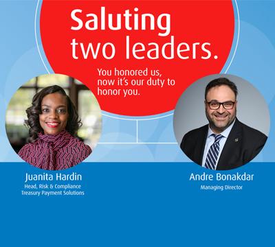 Saluting two leaders: Juanita Hardin and Andre Bonakdar