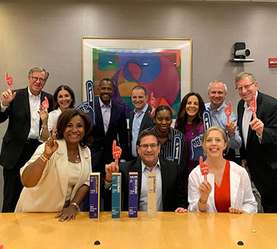 Top left: Dave Casper, U.S. Chief Executive Officer and United Way of Metro Chicago Board Member, joined a few BMO colleagues to virtually celebrate the campaign's success and BMO's recognition as the #1 Corporate Partner.